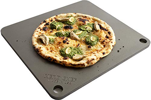 "NerdChef Steel Stone - High-Performance Baking Surface for Pizza (14.5""x16"" x1/4"") - (.25"" Thick - Standard)"