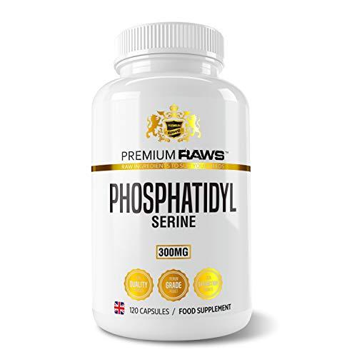 Premium Raws Phosphatidylserine 300mg Nootropics Brain Support Supplement & Cognitive Focus Enhancer, 120 Veg Capsules