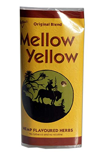 Mellow Yellow Mezcla de hierbas, sustituto del tabaco con aroma de cáñamo.