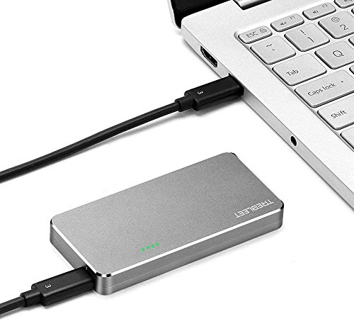 USB 4 SSD Enclosure Compatible with Thunderbolt 3 40Gbps,TB3 to NVMe M.2 2280 Hard Drive Case Compatible with New M1,Reading Speeds up to 2800 MB/s