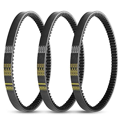 3Pcs Torque Converter Drive Clutch Belt Go Kart Engine Drive Belts for Yerf-Dog Go Karts 203591-Q43203W Belts