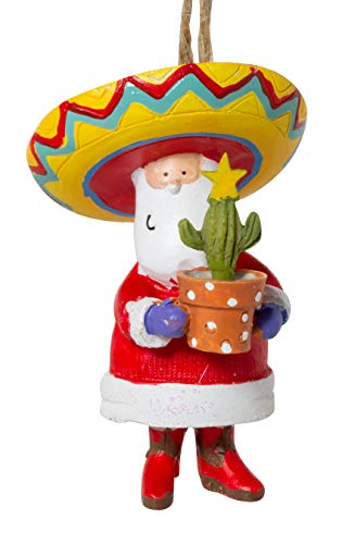 Cape Shore Santa Claus in Sombrero Resin Christmas Holiday Ornament