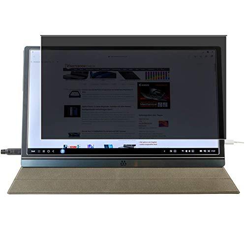 Vaxson Protector de Pantalla de Privacidad, compatible con M MEMTEQ Type-C Portable Monitor Z1 15.6' [no vidrio templado] TPU Película Protectora Anti Espía