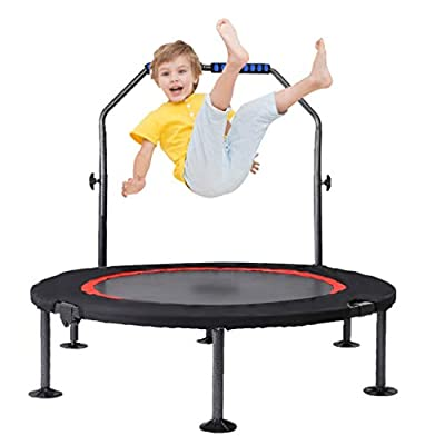 Mini Trampoline for Kids with Handle,Foldable K...