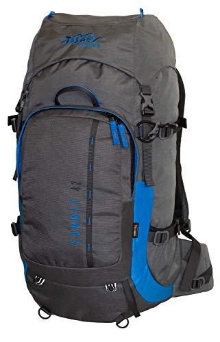 Tashev Sac à Dos de randonnée, de Trekking, de Camping, pour activités en Plein air Daypack Summit 42 (Grise-Bleu)