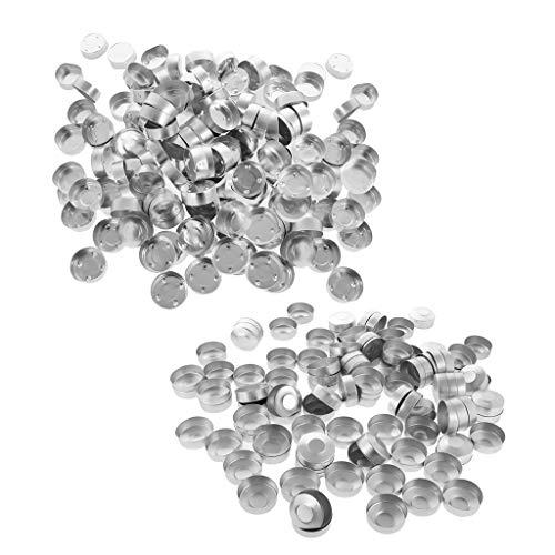 Milageto Caja de Aluminio Vacía de 300 Piezas, Recipientes para Vasos de Candelita