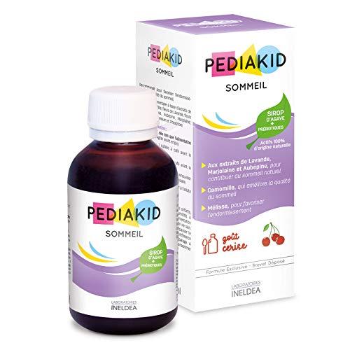 PEDIAKID - Complément Alimentaire Naturel Pediakid Sommeil - Formule Exclusive au Sirop d'Agave - Améliore la Qualité du Sommeil - Favorise l'Endormissement - Arôme Naturel Cerise - Flacon de 125 ml