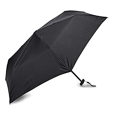 Samsonite Luggage Manual Compact Flat Umbrella, Black