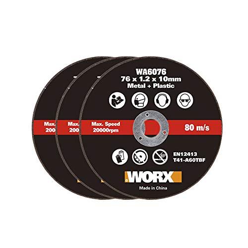 WORX WA6076.3-3 Discos corte metal 76mm WX801/WX801.9