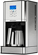 AIRMSEN Programmable Coffee Maker with Thermal Carafe, Stainless Steel Drip Coffee Machines with Permanent Filter Basket, Brew Strength Control, Self-Cleaning Function, 8 Cup