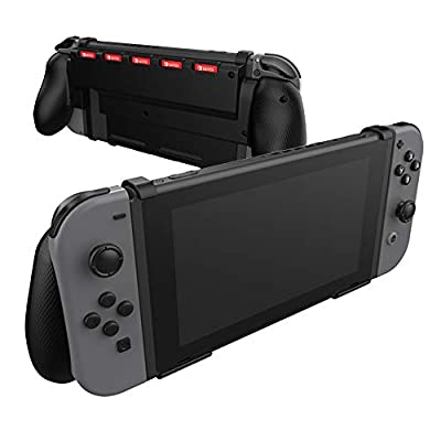 Comfort Grip Case for Switch With Game Storage - Protective Cover for use on the Nintendo Switch Console in Handheld GamePad Mode with built in Game Storage - BLACK