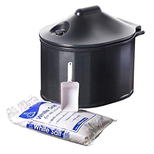 35 litres poubelle à grain miniature de couleur chêne