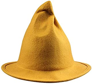 Womens Wool Sharp Pointed Halloween Christmas Costume Party Witch Top Hat Cap