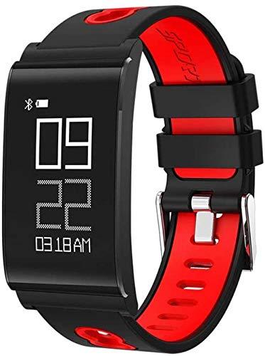 Pulsera de actividad física con monitor de frecuencia cardíaca, impermeable, inteligente, contador de pasos, contador de calorías, podómetro, reloj para niños, mujeres, hombres, rojo