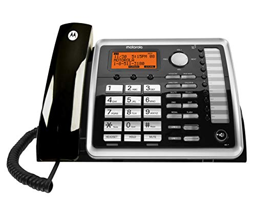 Motorola ML25260 DECT 6.0 Expandable Corded 2-line Business Phone with Caller ID, Black, Accessory Unit - Corded Handset