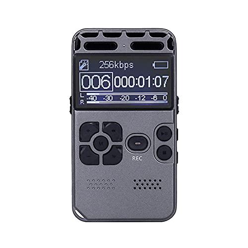 Funien Grabadora de Voz, SK-502 Grabadora de Voz Digital Dictáfono Activado Sonido de Audio Reproductor de música Profesional Digital Soporte Tarjeta de Memoria