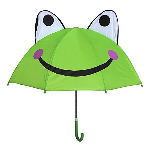 Olele Kids Regenschirm für Jungen und Mädchen (Frosch)