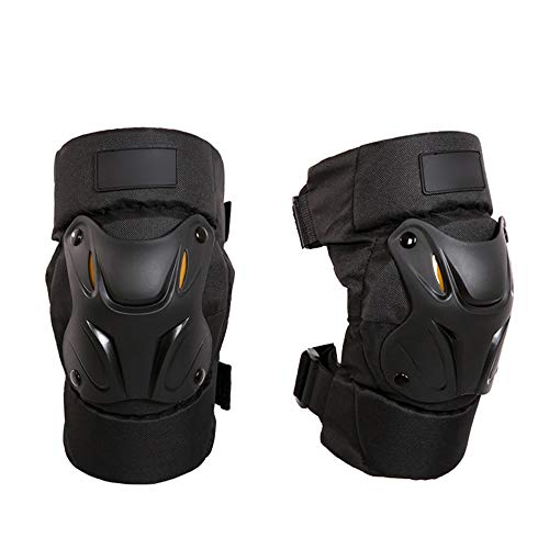 HOUJHUR Rodilleras Profesionales con Acolchado de Espuma Resistente y cómodo cojín de Gel Clips Ajustables EasyFix Unisex (Color : Negro, Size : One Size)