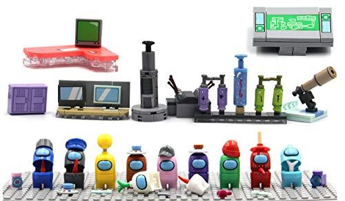 Magma Brick Entre Nosotros Series, El Astronauta y la máquina Compatible con Las Principales Marcas de Juguetes de construcción.