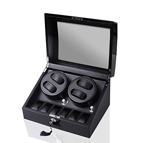 FFAN Caja de enrollador de Reloj, Caja de Relojes mecánicos de Fibra de Carbono 4 + 6 Good Life