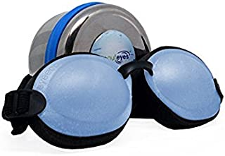 Tranquileyes Mini Sleep Mask for Nighttime Dry Eye Relief (Blue)