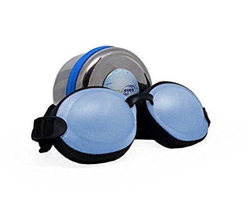 Tranquileyes Mini Sleep Mask for Nighttime Dry Eye Relief (Blue)