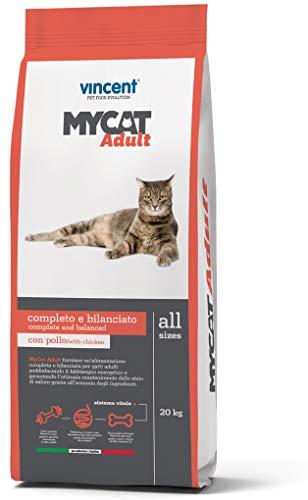 Crocchette GATTO Vincent MYCAT adult 20 kg croccantini gatti carne pollo pesce