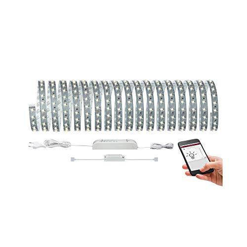 Paulmann 70907 SmartHome MaxLED 500 LED Strip Basisset Bluetooth LED Stripe 10 m Lichtstreifen 53,5W Lichtband 2.700 K Warmweiß