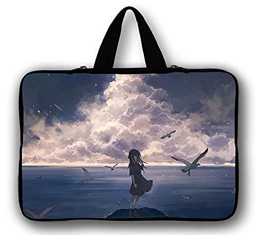 DONGDONG Bolsa de portátiles Funda 17 15 13 12 14 17.3 Caja de la Funda Chromebook Universal Carry Tablet 10 Funda para iPad Chuwi Lapbook Pro-Estilo 1_10 Pulgadas 27 * 21 cm