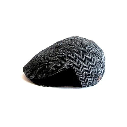 DASMARCA-Collection Hiver-Chapeau en Laine Motifs Chevrons Bakerboy Gris-Jules-S