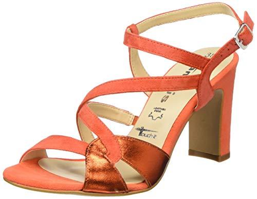 Tamaris 1-1-28397-24, Sandali con Cinturino alla Caviglia Donna, Arancione Sunset Suns Me 622, 38 EU