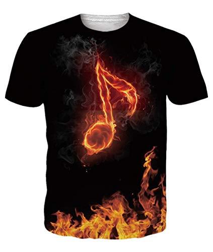 Idgreatim T-shirt à manches courtes unisexe imprimé 3D - - Medium