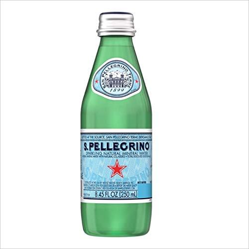 S.Pellegrino Sparkling Natural Mineral Water, 8.45 fl oz. Glass Bottle (24 Count)