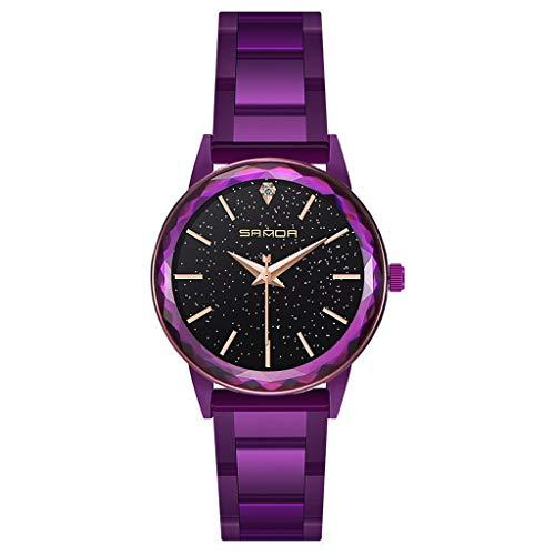 QKAGK dameshorloge waterdicht horloge mode elegant luxe casual roestvrij staal kwartshorloge vrouwelijk meisje jongen