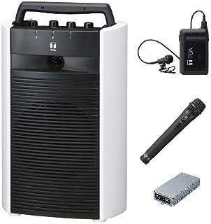 TOA デジタルワイヤレスアンプ(SD/USB/CD機能付き)・ワイヤレスマイクセット WA-2800SC×1 WTU-1820×1 WM-1220×1 WM-1320×1 ダイバシティ