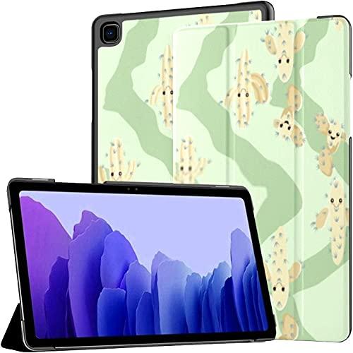 Funda para Samsung Galaxy Tab A7 Tablet 2020 de 10,4 Pulgadas (sm-t500 / t505 / t507), Divertido Kawaii Pretty Childish Cactus con Soporte de múltiples ángulos con activación/Reposo automático