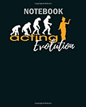 Notebook: acting evolution - 50 sheets, 100 pages - 8 x 10 inches