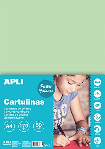 APLI 14234 - Cartulina verde esmeralda A4 170 g 50 hojas