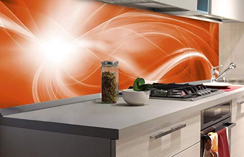Zelfklevende keuken achterwand SINAASAPPEL ABSTRACTE 180 x 60 cm   Zelfklevende spatwand keukenfolie   Waterbestendige folie voor de keuken   PREMIUM KWALITEIT   Gemaakt in de EU