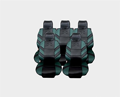 Flexzon - Juego completo de 5 fundas de asiento universales para 5 plazas, color verde