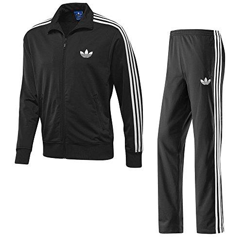 Adidas Firebird Herren-Trainingsanzug M schwarz / weiß