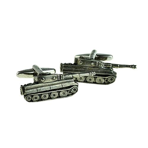 Ashton and Finch Army Panzer War Military Tank Cufflinks| Perfect Gifts for Men's Birthdays, Weddings And Special Occasions | Personalised Cufflinks For Men