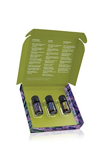 doTERRA Einführungs-Kit  mit aromatischen Ölen Zitrone, Pfefferminze und Lavendel (je 5ml)