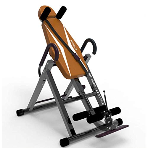 Great Deal! ZXGFA Gravity Heavy Duty Inversion Table, Folding Exercise Therapy Bench Back Stretcher,...