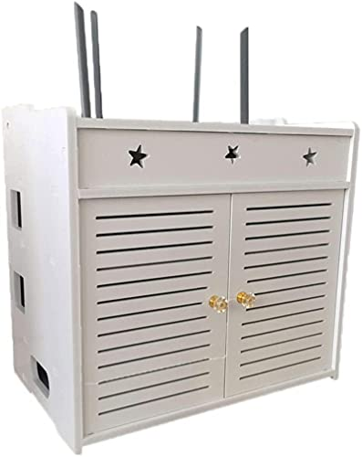 ボックスルーター収納ボックスWiFiルーターブラケットセットトップフローティング壁掛け棚棚ブラケットTVアクセサリー用WiFiルーターTVボックス