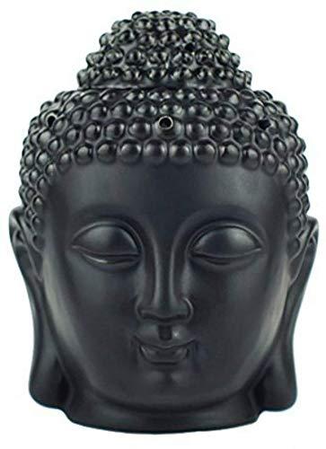 EVERGD - Juego de 2 estatuas de buda, quemador de aceites esenciales para aromaterapia, aromaterapia, ideal para yoga, spa, pilates, meditación, sala de meditación, regalo para decoración del hogar