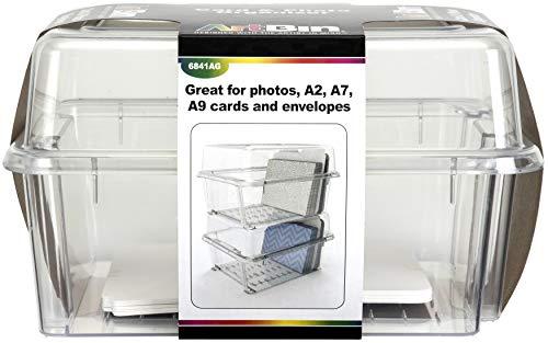 ARTBIN 명확한 카드&사진 상자 상자&분배자