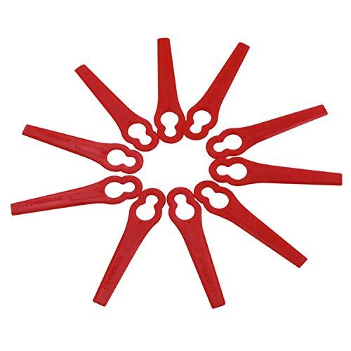 100 UNIDS Cuchillas de Reemplazo para Cortadoras de Césped de Plástico Accesorios de Cortacésped para Agricultura Ganadería Acuicultura Forestal Jardín Patio Trasero