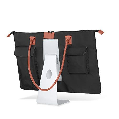 CURMIO Estuche portátil para computadora de Escritorio iMac de 21.5'de Apple, Bolso de Mano con Bolsa Protectora con asa de Cuero de PU para Monitor iMac de 21.5' y Accesorios(Diseño Patentado)