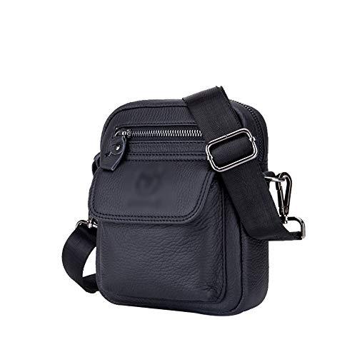 Confortable Messenger Bag Sac à Main for Homme Sac à bandoulière en Cuir Élégant (Couleur : Noir, Size : L)